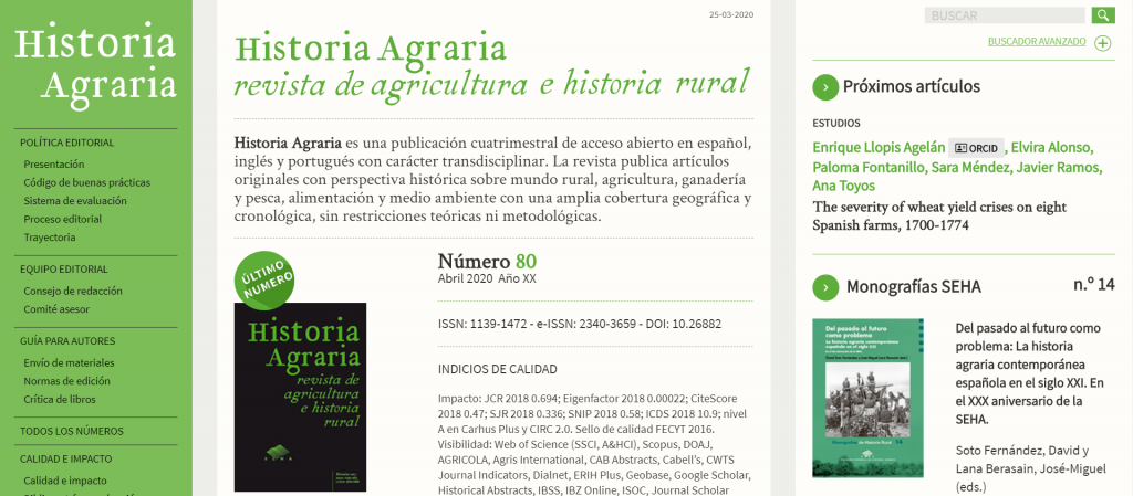 banner Historia Agraria