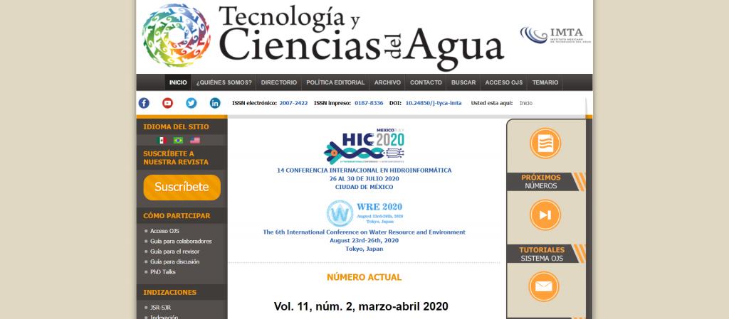 Tecnología y Ciencias del Agua